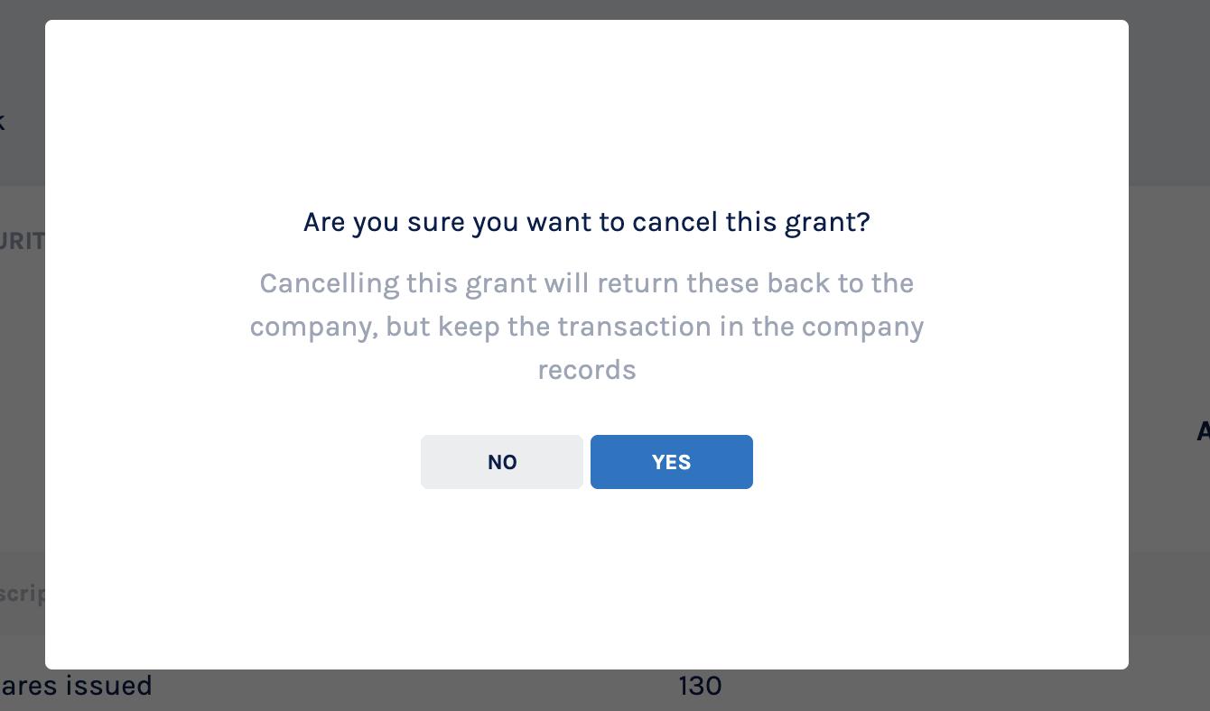 Grant Cancellation