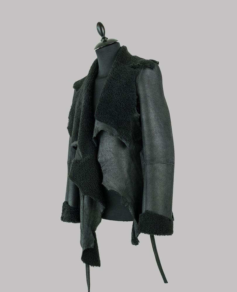 Ann Demeulemeester Mens black Sander Jacket