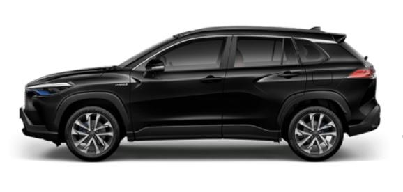 รถยนต์ Toyota Corolla Cross สีดำ Attitude Black Mica