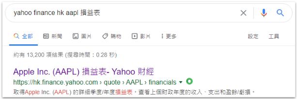 使用Yahoo財經的財務數據
