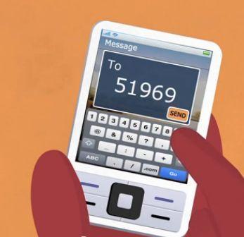 Aadhaar card status sms send
