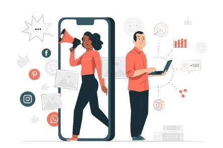 Marketing concept illustration Free Vector