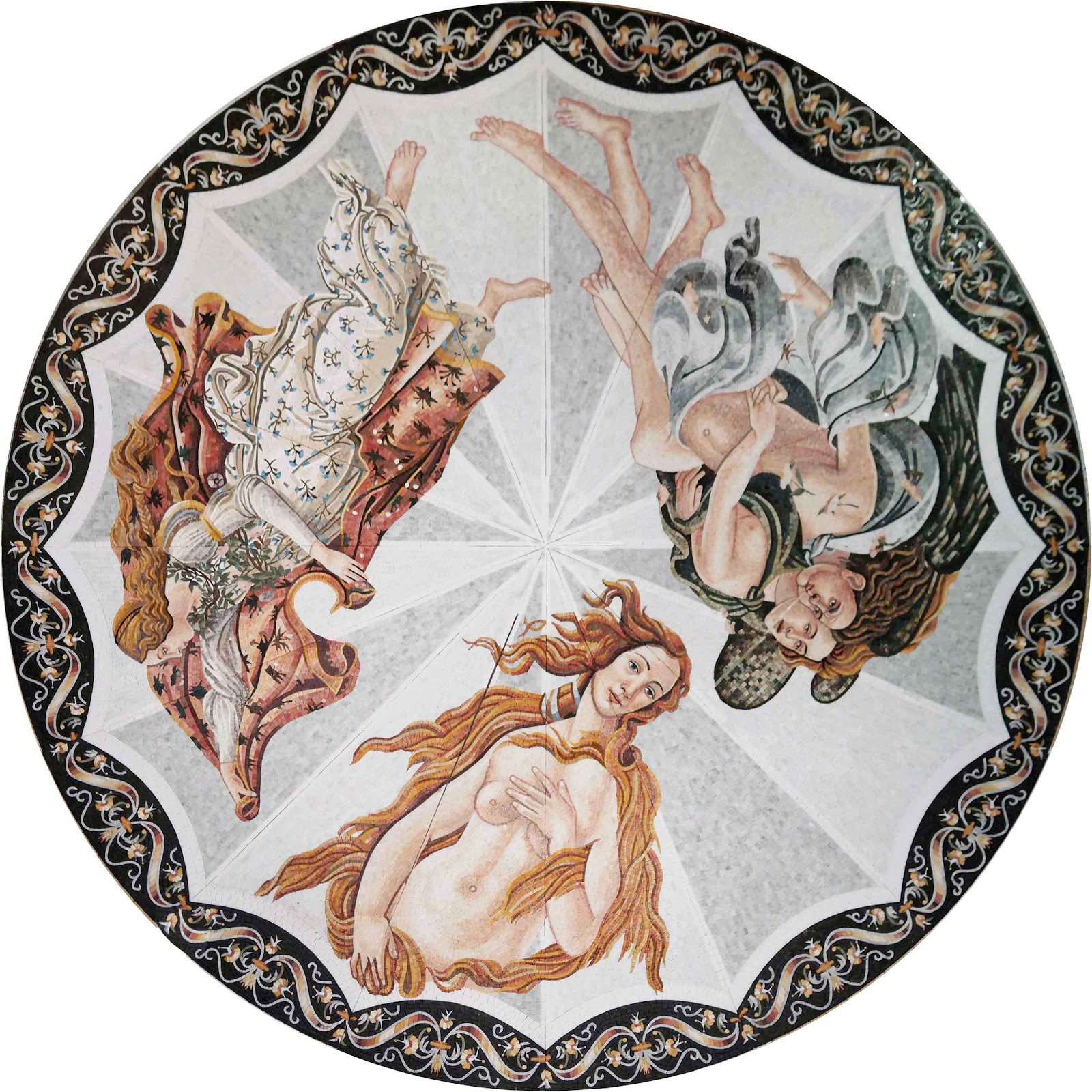 The Birth of Venus by Sandro Botticelli - Mosaic Art Reproduction by Mozaico