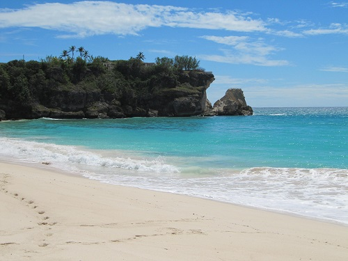 The southern coast of Barbados.