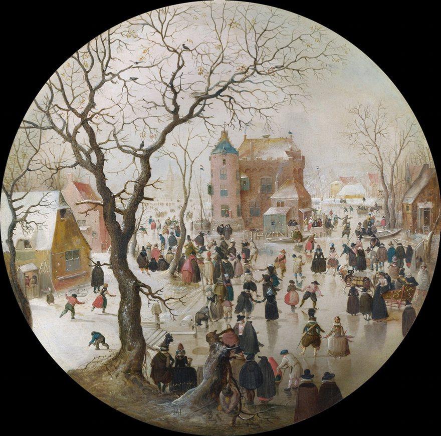 A Winter Scene with Skaters near a Castle-Hendrick Avercamp, 1608-9.jpeg