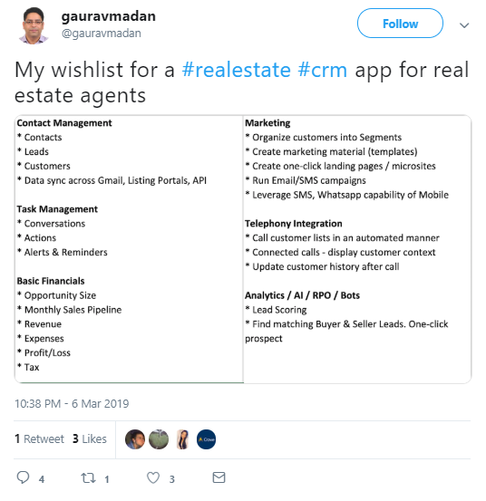 twitter social selling example.