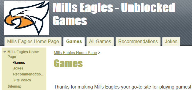 Most schools block a lot of game sites online mills eagles however