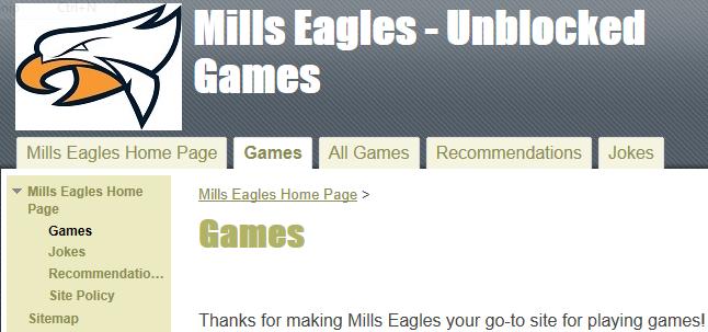 Schools block a lot of game sites online mills eagles however