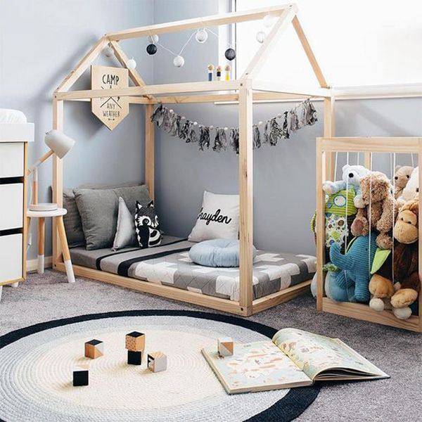 Playful Bed Frame for Your Girl Toddler