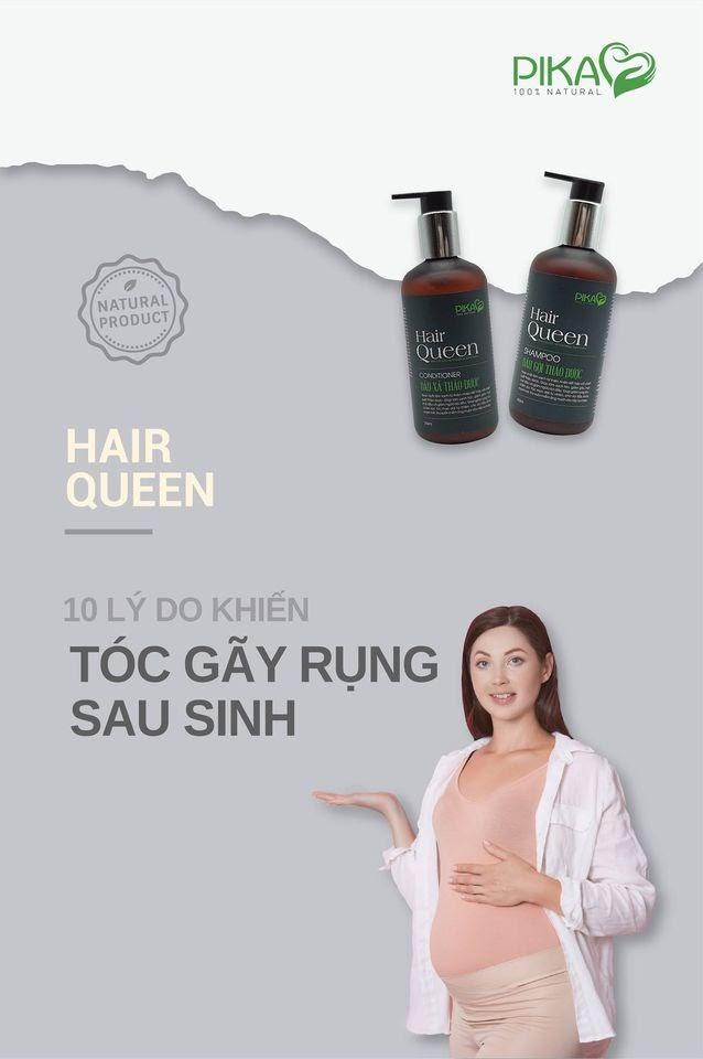 Hair Queen – Sản phẩm dầu gội tuyệt vời dành cho mẹ bầu sau sinh - Ảnh 1