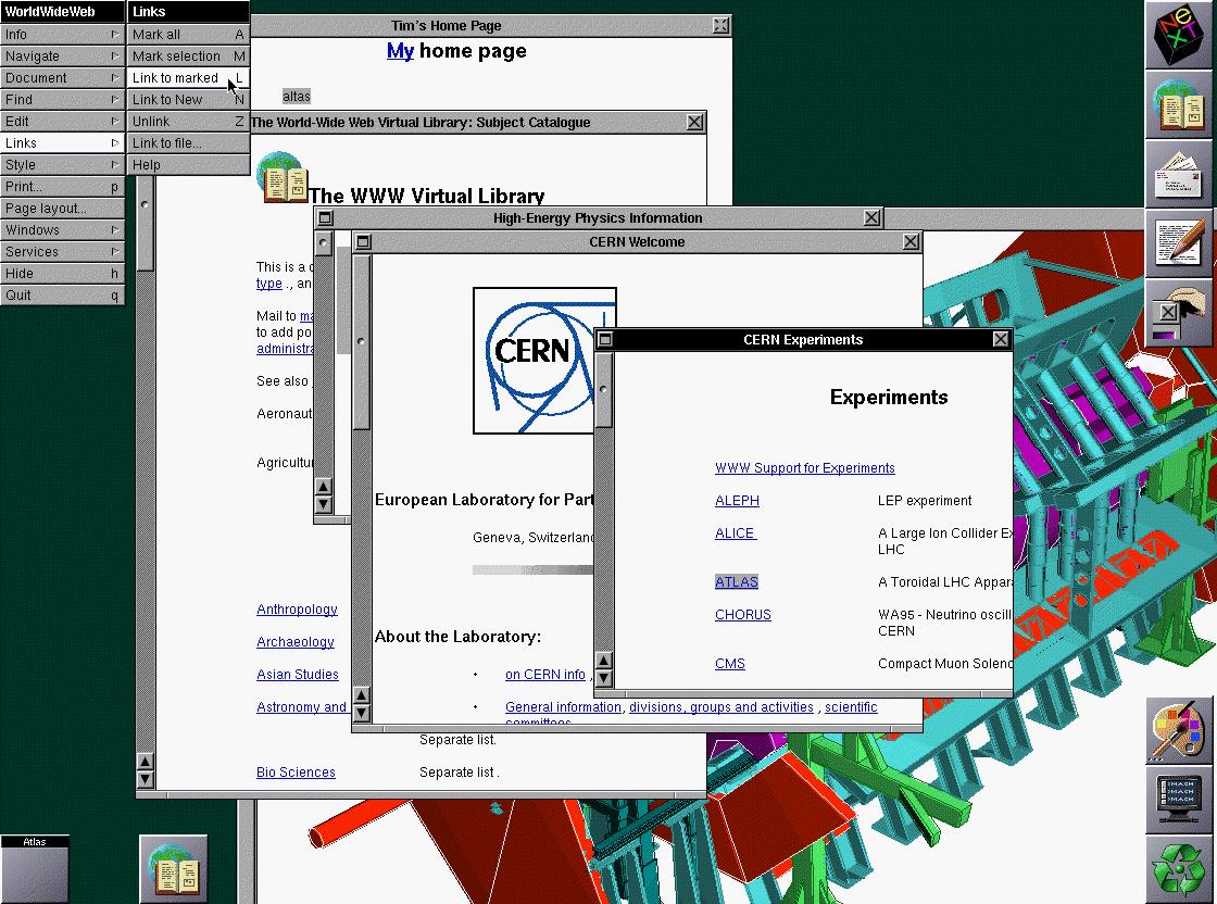 Discada à 5g: história da Internet. Navegador Netscape, um dos primeiros desenvolvidos na Web.