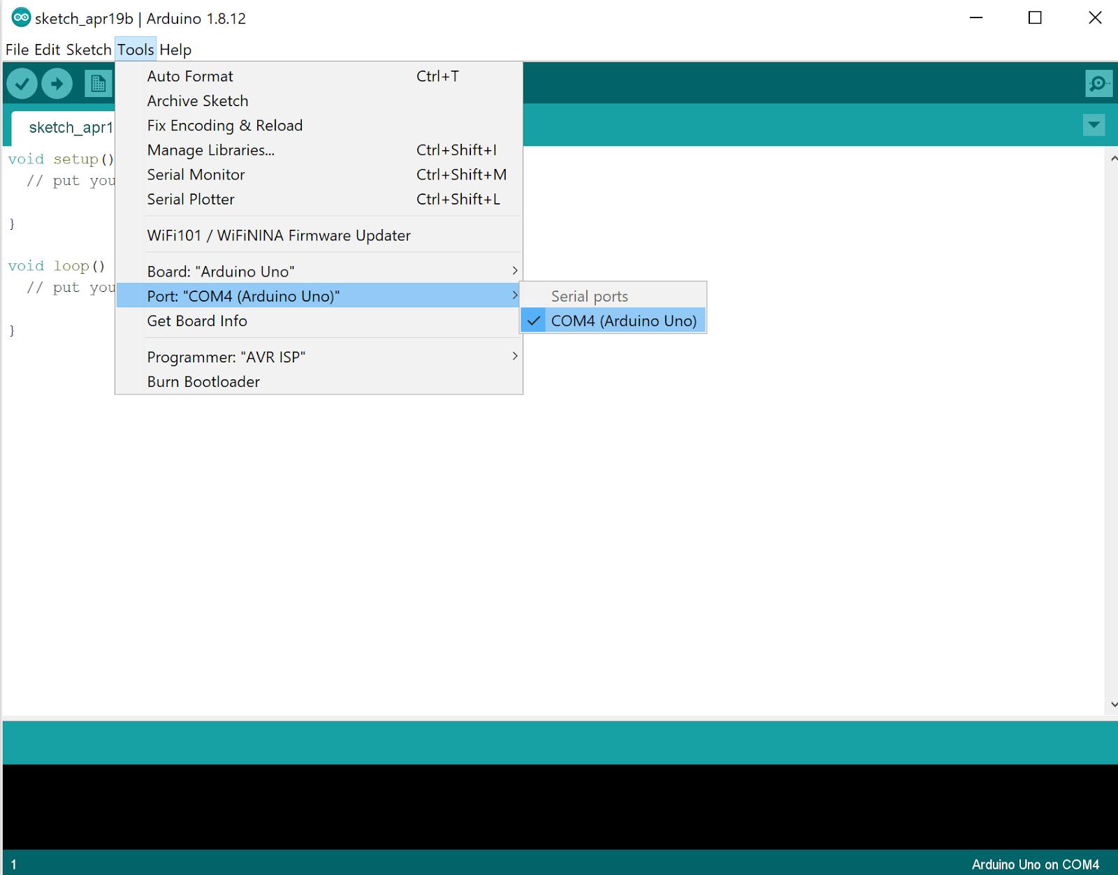 Giao diện của Arduino IDE