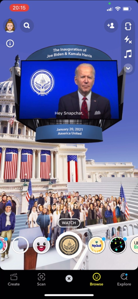 Presidential Inauguration Committee Teams Up With Snapchat on AR Lenses