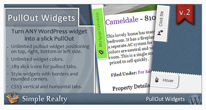 PullOut Widgets for WordPress