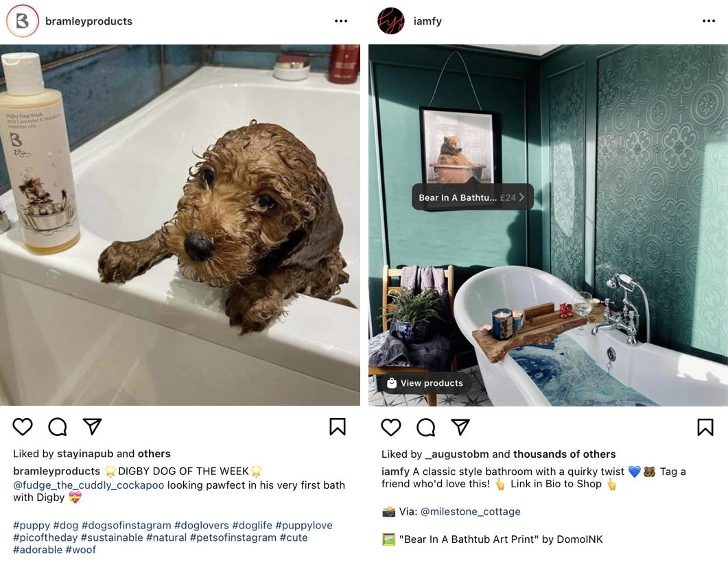 Treści generowane przez użytkowników Instagrama – zrzuty ekranu