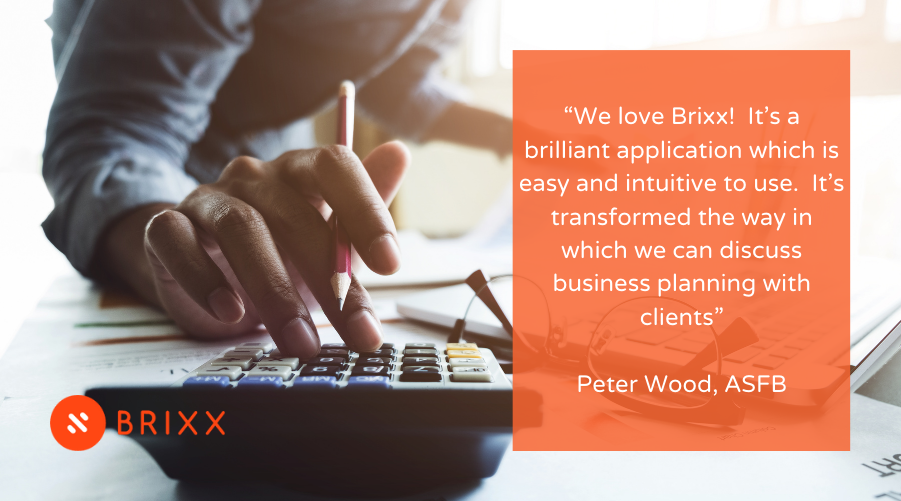 Brixx Partner Program testimonial represented in an image for the Financial Forecasting For Accountants - The Brixx Partner Program blog post for Brixx Software