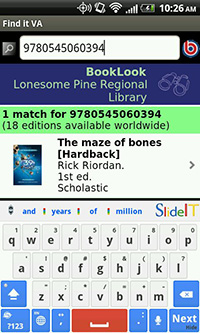 Using BookLook with Lonesome Pine Regional Library