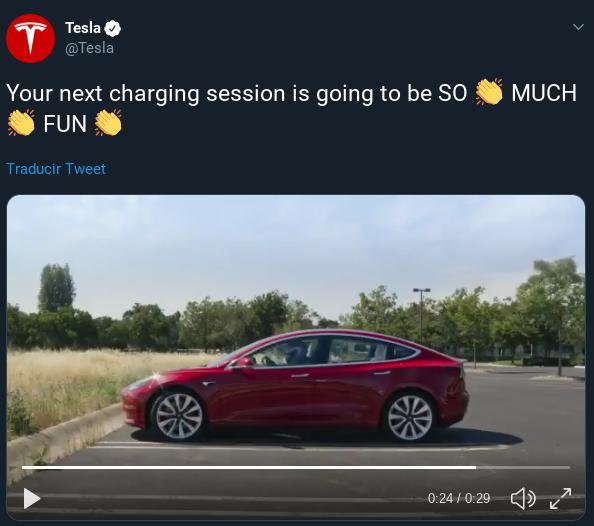 tweet de Tesla