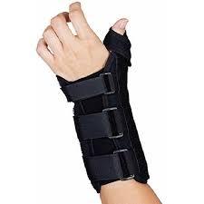 Comfort Foam Wrist Splint With Thumb Abduction Brace (Small Left) - Walmart.com - Walmart.com