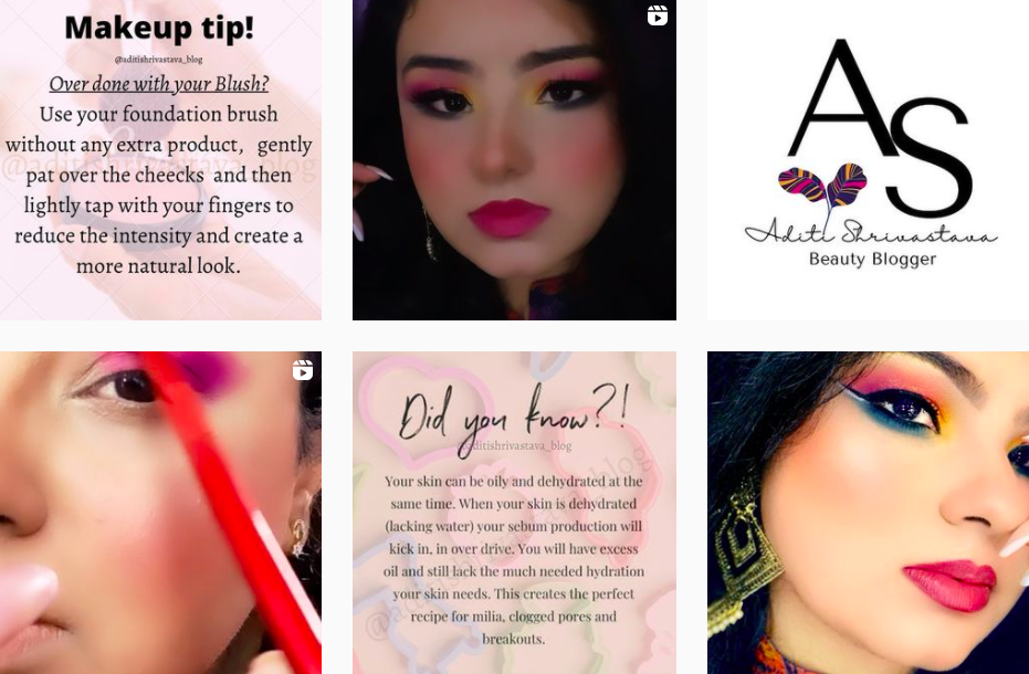 Aditi | Instagram Beauty Blogger | Indian Influencers on Afluencer
