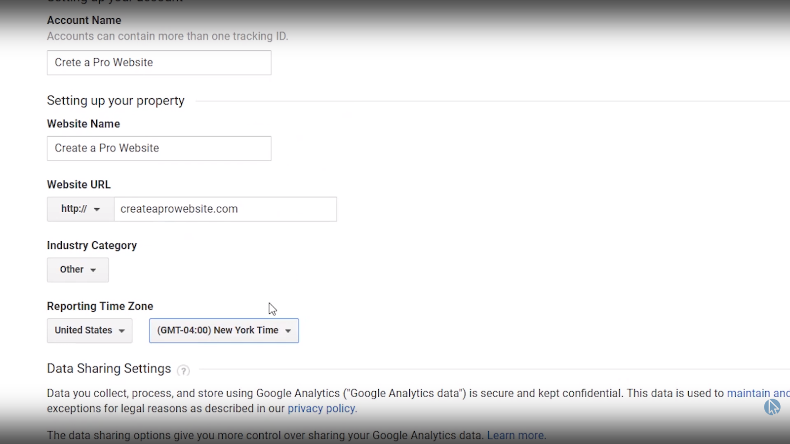 google analytics wordpress settings