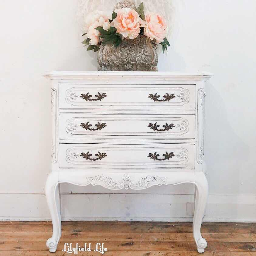 French white chest of drawers Lilyfield Life
