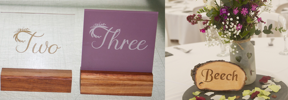 Choose from a variety of table place settings and decor.