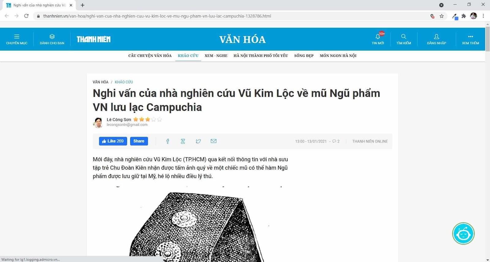Về có đúng mũ Đông Pha ở viện bảo tàng bên Mỹ là mũ thường triều của quan Ngũ Phẩm thời Nguyễn không ?