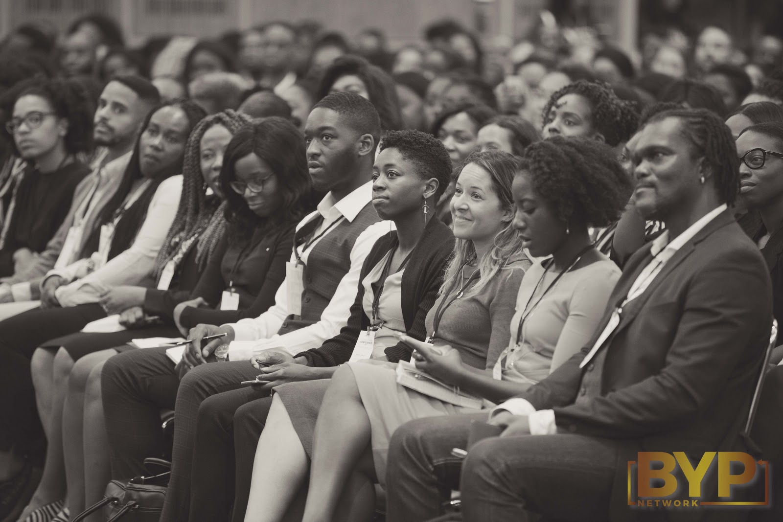 A shot of the crowd at a Black Young Professionals networking event.