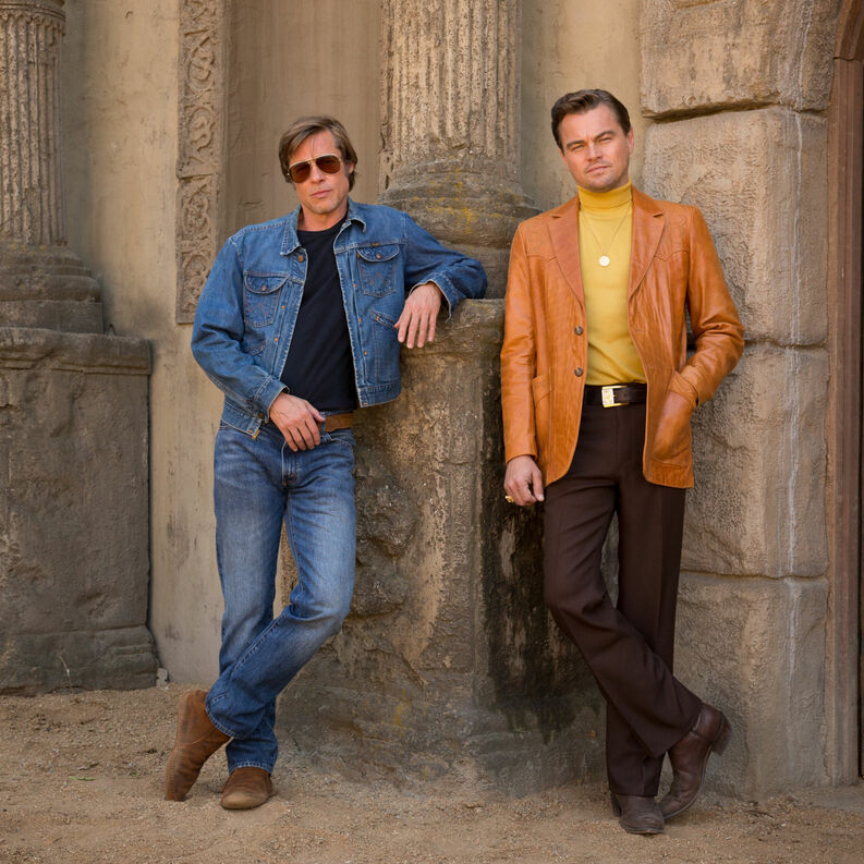pitt dicaprio once upon a time in hollywood