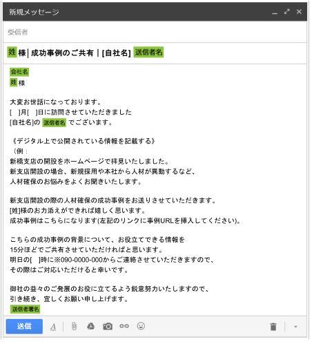 営業フォローメール例の紹介