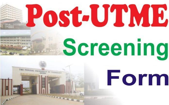 Post UTME Form