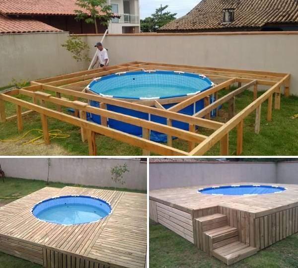 Картинки по запросу установка бассейн каркасный