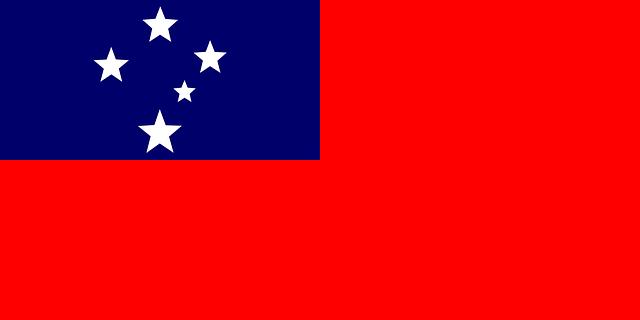Bandera, Signo, Oceanía, Samoa