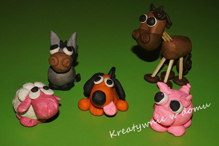 Plastelinowe love - zwierzaki z farmy   Kreatywnie w domu