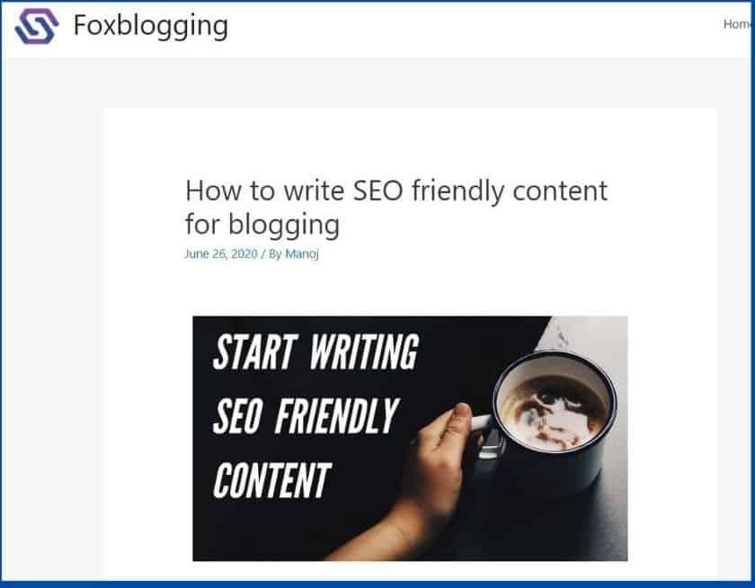seo friendly content screenshot