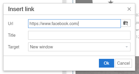 Gmail insert link for image