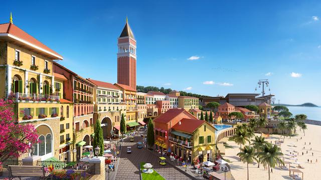 Central village là trung tâm phát triển của Đảo Ngọc
