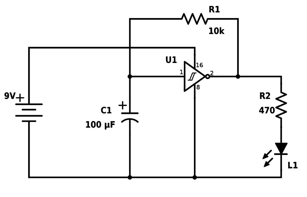 Làm thế nào để nhấp nháy một đèn LED với một biến tần
