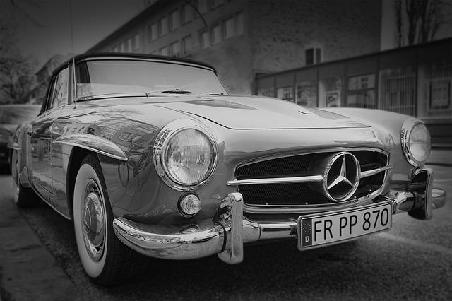 špz, poznávacia značka v Európskej únii, retro auto