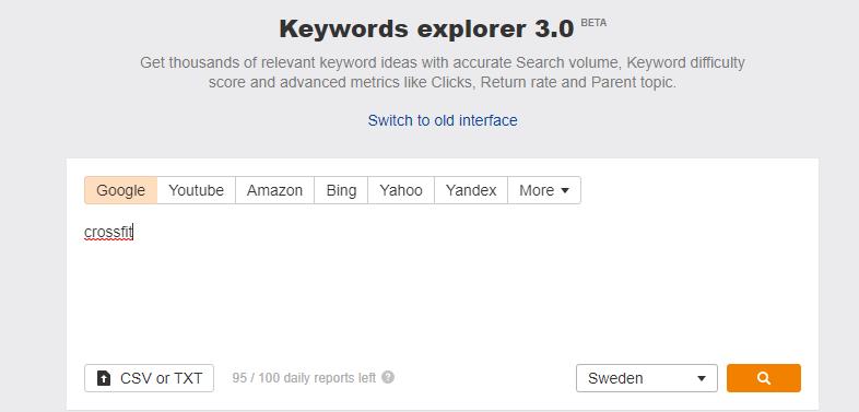 keywords explorer 3.0