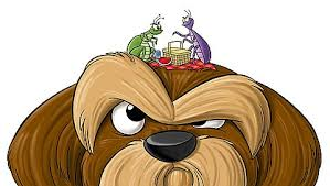 Image result for dog cartoon and parasite