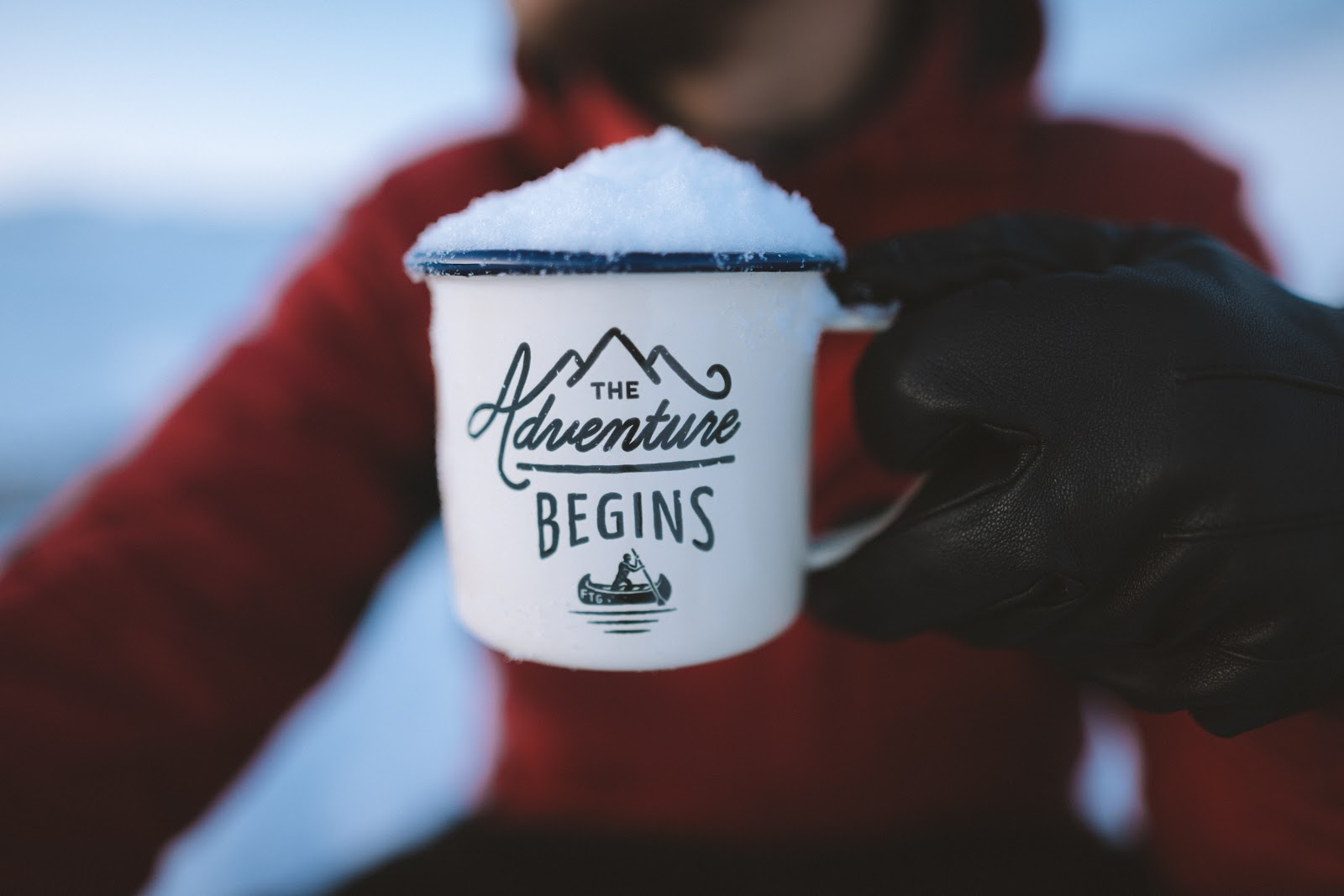 The Adventure Begins Mug Hiking - Blacks