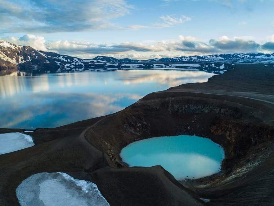 askja, viti lake, lake in volcano