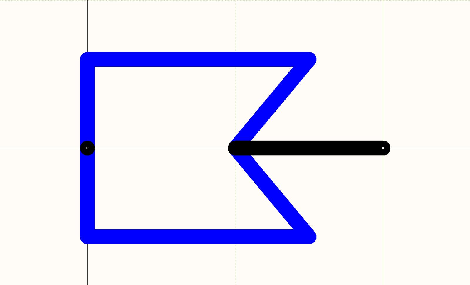 Símbolo esquemático de una toma