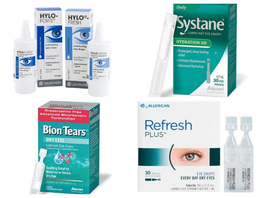 Preservative free eye drops