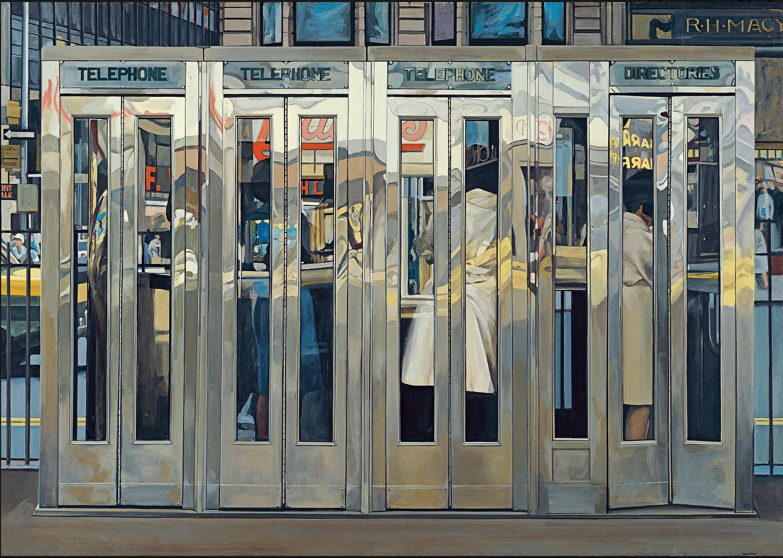 Richard Estes (b. 1932)  Telephone Booths
