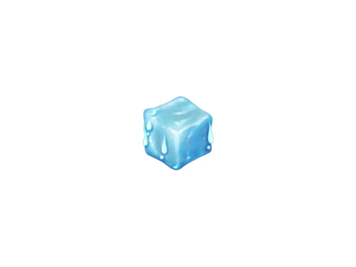 Ice cube emoji (Courtesy: Emojipedia)
