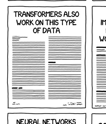 """Cartoon newspaper with headline: TRANSFORMERS ALSO WORK ON THIS TYPE OF DATA"""""""
