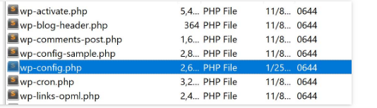 Locating wp-config.php File